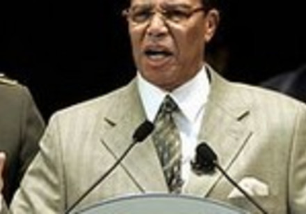 Nation of Islam leader Louis Farrakhan