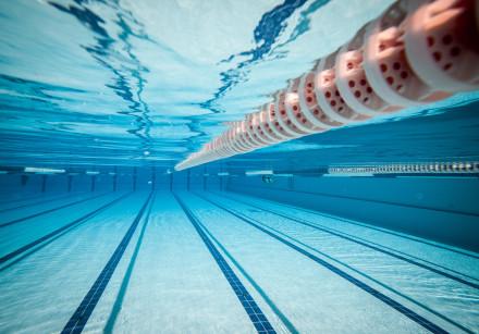 swimming pool under water illustrative