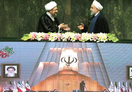 Rouhani and Larijani