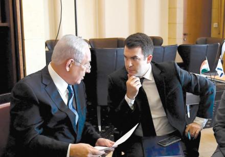 DAVID KEYES (R) and Prime Minister Benjamin Netanyahu (L)