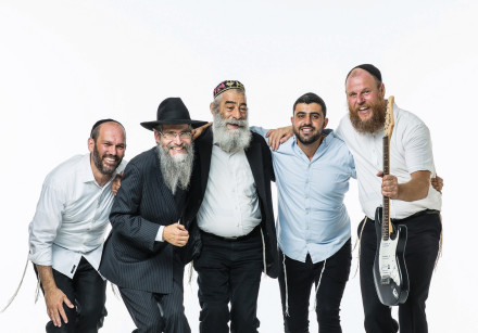 The all-star Kislev 19 lineup (from left): Yonatan Razel, Avraham Fried, Yishai Ribo, Ariel Zilber a