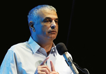 FINANCE MINISTER Moshe Kahlon speaks at an event in Ofakim.