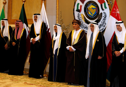 Saudi Foreign Minister Adel al-Jubeir, Bahrain's Deputy Prime Minister Mohammed bin Mubarak Al Khali