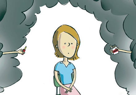 Smoking is one of the most harmful activities and even second handsmoke does damage to the body.