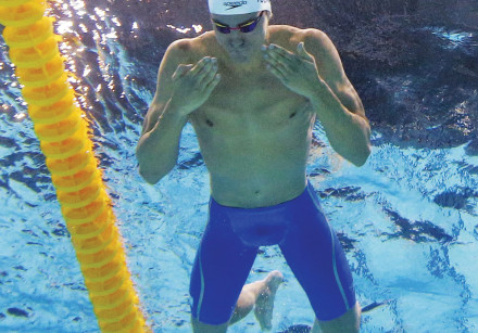 Israeli sw immer Yakov Toumarkin ended yesterday's 100-meter individual medley final in fifth place