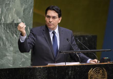 Israeli Ambassador to the UN Danny Danon speaks at the UNGA