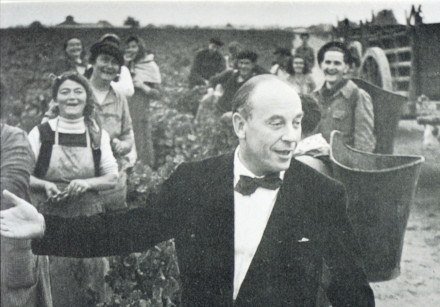 A young Baron Philippe de Rothschild in the vines