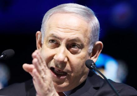 Israeli Prime Minister Benjamin Netanyahu speaks in Tel Aviv, Israel February 14, 2018