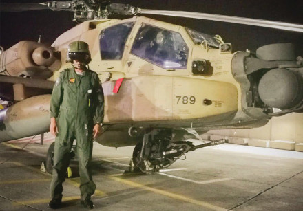 Lt.-Col. L., the pilot who downed the Iranian drone over Israel early on February 10