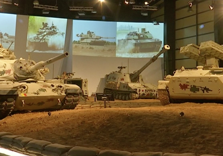 Tanks on display at the Royal Tank Museum in Jordan