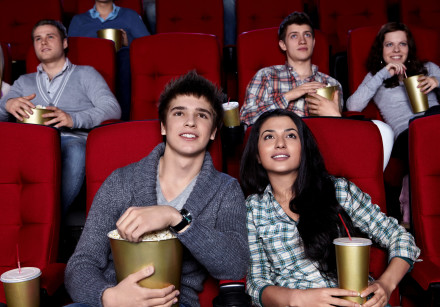People at the movies (Illustrative)