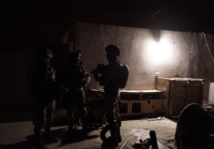 IDF forces during an overnight operation in the West Bank, March 18th, 2018.