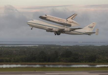 space shuttle endeavor taking off