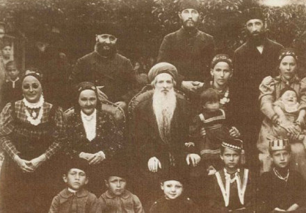 A photograph of Rabbi Chaim Chizkiyahu Medini, considered the 'Chacham' of Krymchaki Jews, with his