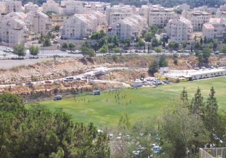 Beitar Jerusaelm FC team at its training grounds between Beit Hakerem and Bayit Vegan