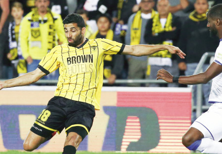 Beitar Jerusalem midfielder Hen Ezra scored his team's second goal in last night's 3-2 win over Macc