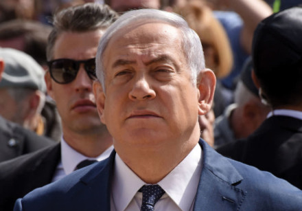 PRIME MINISTER Benjamin Netanyahu attends a ceremony marking Holocaust Remembrance Day at the Yad Va