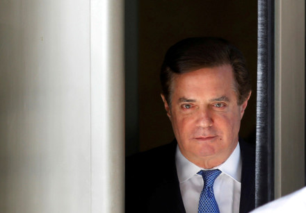 Former Trump campaign manager Paul Manafort departs from US District Court in Washington, DC, Februa