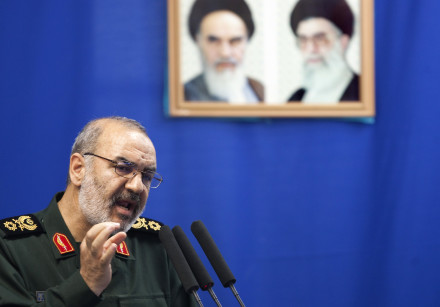 Hossein Salami, deputy head of Iran's Revolutionary Guard, speaks during Tehran's Friday prayers Jul