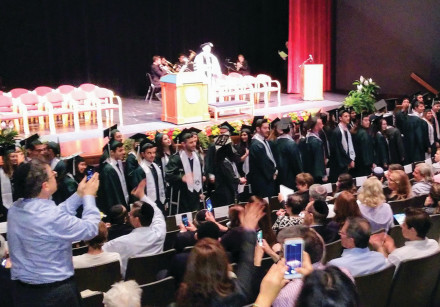 Jewish students from Binghamton University graduate at a special ceremony last week