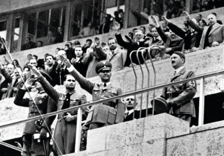 ADOLF HITLER at the opening of the Olympic Games in 1936