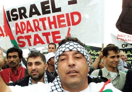 Anti-Israel demonstrators at the World Conference on Racism in Durban, South Africa, in 2001