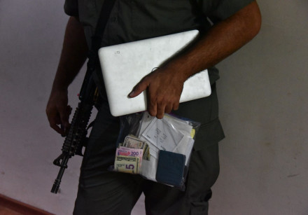 Evidence seized in police operations, June 24, 2018.