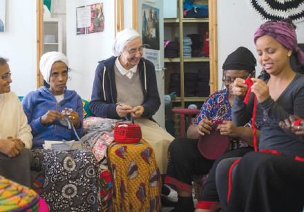 KUCHINATE, 'CROCHETING' in Tigrinya, the language of Eritrea, is a collective of African asylum-seek