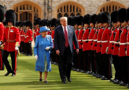 U.S. President Donald Trump and Britain's Queen Elizabeth