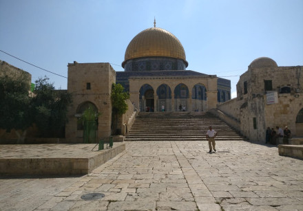 The temple mount on the Ninth of Av, July 22, 2018.