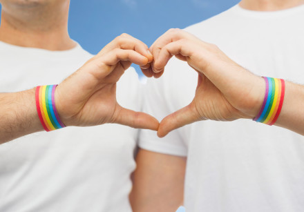 Gay couple celebrates pride, LGBT