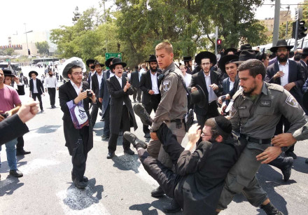 Haredi demonstrations in Jerusalem August 2nd, 2018