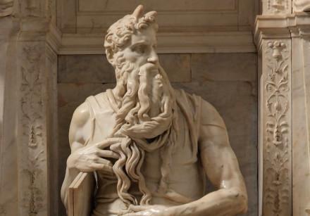 'MOSES,' BY Michelangelo Buonarroti, 1513-1515, at San Pietro in Vincoli (Rome)