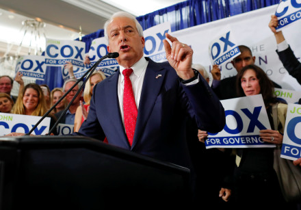 Republican candidate John Cox speaks at headquarters, San Diego, California, 2018.