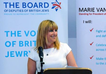UK Board of Deputies Head Marie van der Zyl.