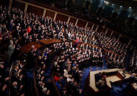 U.S. President Donald Trump delivers his State of the Union address to a joint session of the U.S. C