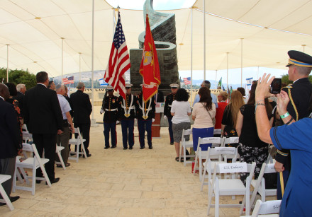 US Marines Guard of Honor at the 9\11 Living Memorial in the Jerusalem Hills