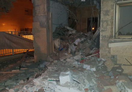 House destroyed by rocket in Beer Sheva.