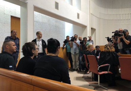 Lara Alqasem entered the courtroom for the first hearing in the High Court of Justice on October 17,