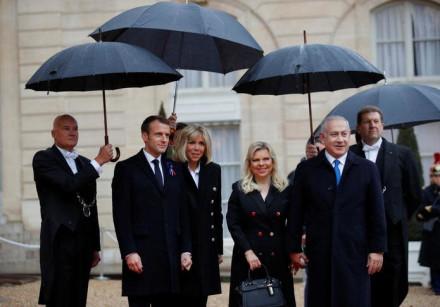 Macron and Netanyahu