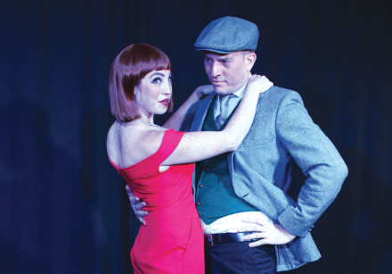 TWO MEMBERS of the cast from 'Cabaret.'