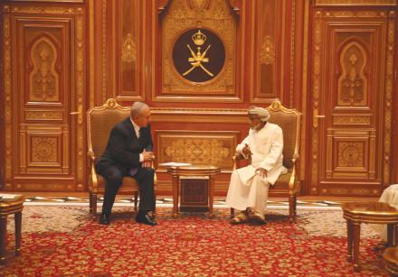 PRIME MINISTER Benjamin Netanyahu meets Sultan Qaboos bin Said in Oman.