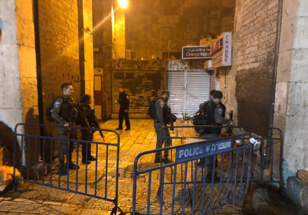 Two Police officers wounded from stabbing in Jerusalem's Old City.