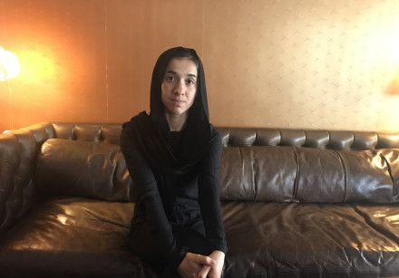 Nadia Murad before she visited Yad Vashem.