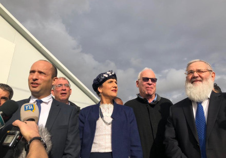 Education Minister Naftali Bennett and members of the Bayit Hayehudi on December 17, 2018