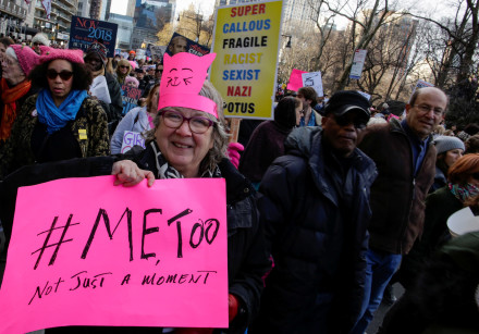 People take part in the Women's March in Manhattan in New York City, New York, U.S., 2018