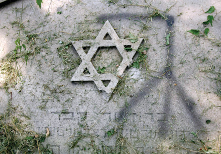 DETAILS ON a Jewish grave in Poland