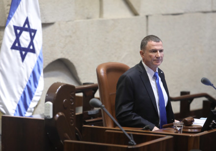 Knesset Speaker Yuli Edelstein on the night the 22nd Knesset voted to disperse