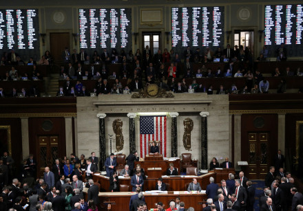 U.S. House of Representatives votes on Trump impeachment on Capitol Hill in Washington on December 1