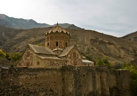Iran's St Stepanos Church, a medieval Armenian Christian place of worship, is seen near the city of